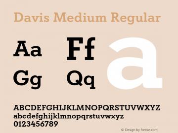 Davis Medium Regular Version 1.000图片样张