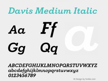 Davis Medium Italic Version 1.000图片样张
