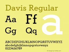 Davis Regular Version 1.000图片样张