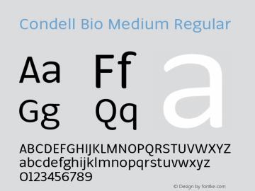 Condell Bio Medium Regular Version 1.000图片样张