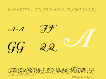 Caslon Initials Regular Version 000.000图片样张