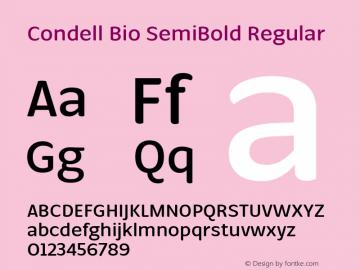 Condell Bio SemiBold Regular Version 1.000图片样张