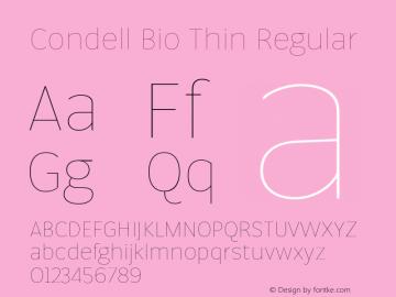 Condell Bio Thin Regular Version 1.000图片样张