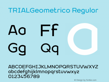 TRIALGeometrico Regular Version 1.000图片样张