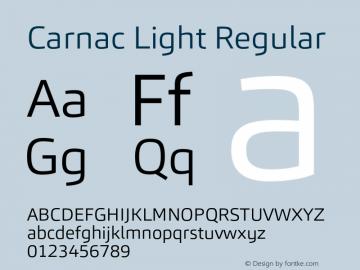 Carnac Light Regular Version 1.000 Font Sample