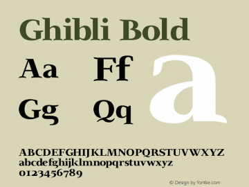 Ghibli Bold Version 2.0 Font Sample