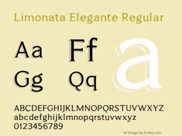 Limonata Elegante Regular Version 1.001 Font Sample