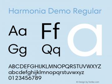 Harmonia Demo Regular Version 1.00图片样张
