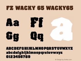 FZ WACKY 65 WACKY65 Version 1.000 Font Sample