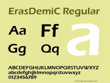 ErasDemiC Regular 001.000 Font Sample