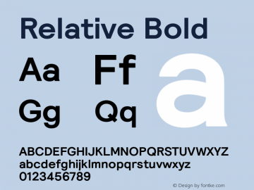 Relative Bold Version 1.000图片样张