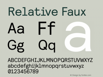 Relative Faux Version 1.000图片样张