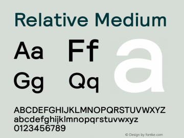 Relative Medium Version 1.000图片样张
