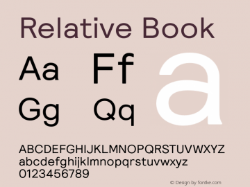 Relative Book Version 1.000图片样张