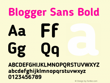 Blogger Sans Bold 1.1; CC 4.0 BY-ND Font Sample
