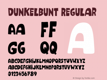 Dunkelbunt Regular Version 001.000 Font Sample