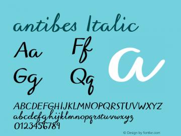 antibes Italic 1.000图片样张