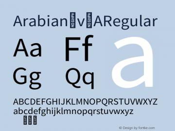 Arabian_v2 Regular Version 2.000;PS 2;hotconv 1.0.88;makeotf.lib2.5.64775 Font Sample