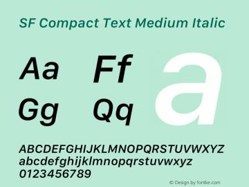 SF Compact Text Medium Italic 12.0d8e1 Font Sample
