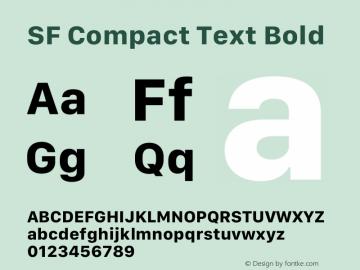 SF Compact Text Bold 12.0d8e1图片样张