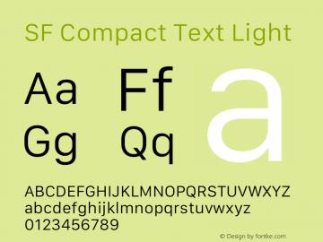 SF Compact Text Light 12.0d8e1 Font Sample