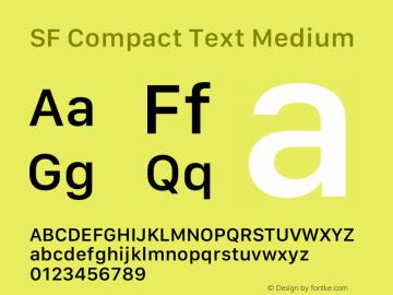 SF Compact Text Medium 12.0d8e1 Font Sample