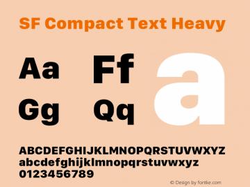 SF Compact Text Heavy 12.0d8e1图片样张