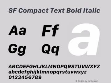 SF Compact Text Bold Italic 12.0d8e1 Font Sample