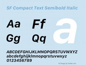 SF Compact Text Semibold Italic 12.0d8e1 Font Sample