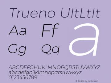 Trueno UltLtIt Version 3.001b Font Sample