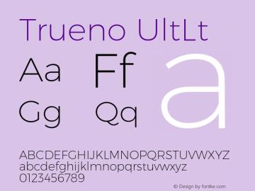 Trueno UltLt Version 3.001b Font Sample