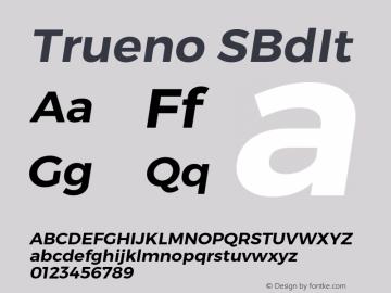 Trueno SBdIt Version 3.001b Font Sample