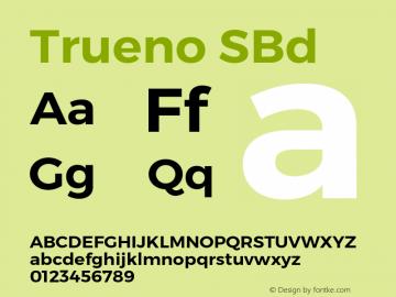 Trueno SBd Version 3.001b Font Sample