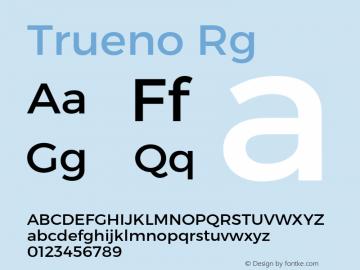 Trueno Rg Version 3.001b Font Sample