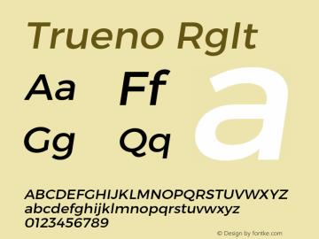 Trueno RgIt Version 3.001b Font Sample