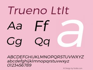 Trueno LtIt Version 3.001b Font Sample