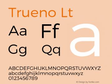Trueno Lt Version 3.001b Font Sample