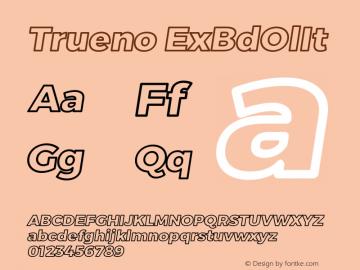 Trueno ExBdOlIt Version 3.001b Font Sample