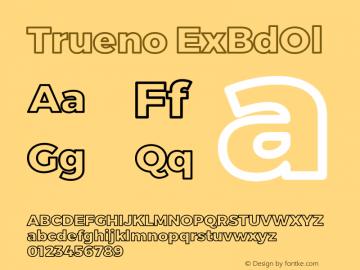 Trueno ExBdOl Version 3.001b Font Sample