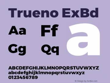 Trueno ExBd Version 3.001b Font Sample