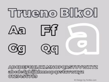 Trueno BlkOl Version 3.001b Font Sample