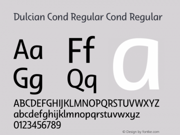 Dulcian Cond Regular Cond Regular Version 1.000 Font Sample