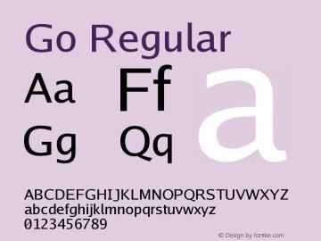 Go Regular Version 2.004 Font Sample