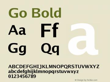 Go Bold Version 2.004 Font Sample