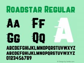 Roadstar Regular Version 1.001;PS 001.001;hotconv 1.0.88;makeotf.lib2.5.64775图片样张