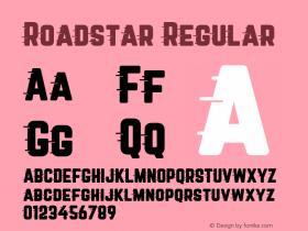 Roadstar Regular Version 1.031图片样张