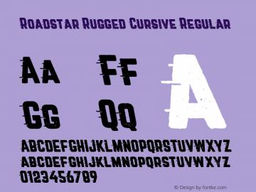 Roadstar Rugged Cursive Regular Version 1.031图片样张