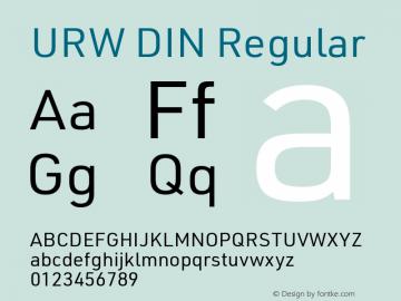 URW DIN Regular Version 3.00 Font Sample