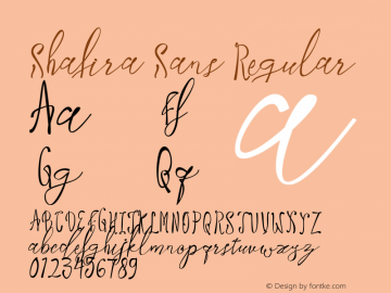 Shafira Sans Regular Version 1.000图片样张