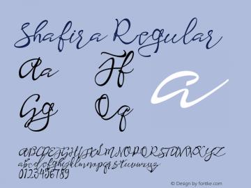 Shafira Regular Version 1.000图片样张